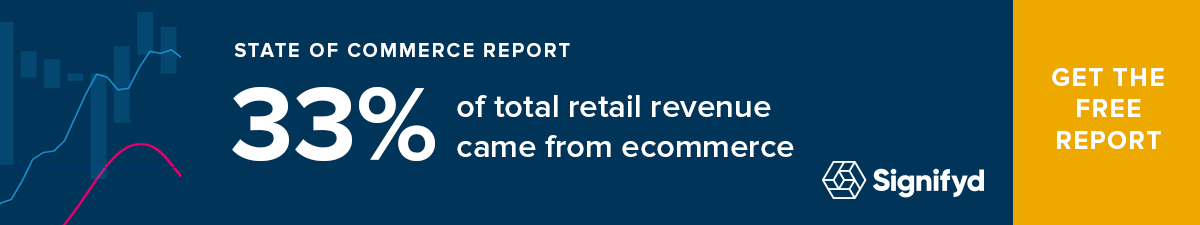 33% of total retail revenue came from ecommerce.